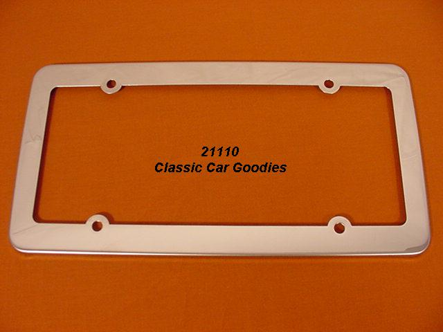 Smooooth License Plate Frame. Polished Stainless Steel.