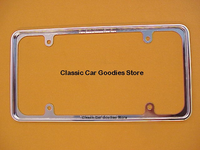 License Plate Frame Chrome Perimeter Frame Fits Inside! New.