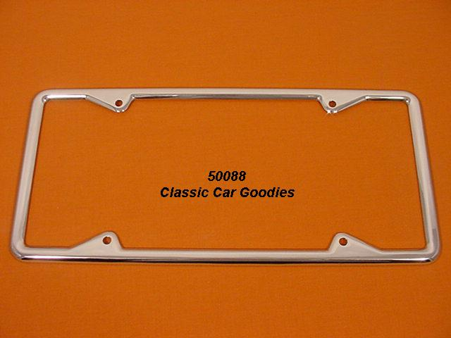 California Square License Plate Frame Show Chrome Long!