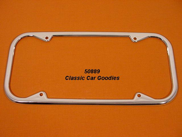 California Round License Plate Frame Show Chrome Long!