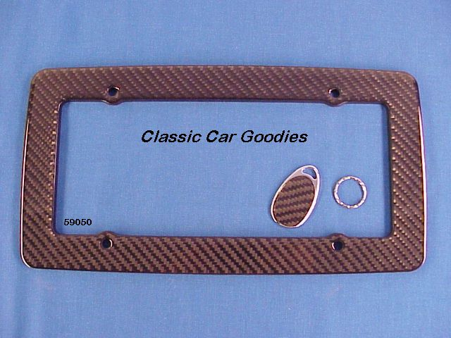 Carbon Fiber License Plate Frame Tuner Drifter Real!