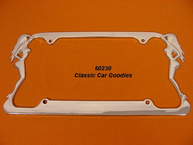 Nude Twins 1 License Plate Frame Chrome Die Cast Metal
