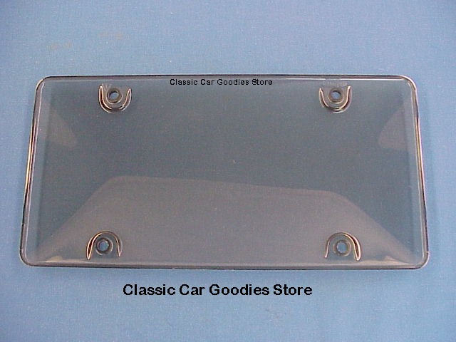 License Plate Cover. Smoke Gray Domed Tuf Bubble Shield Unbreakable!