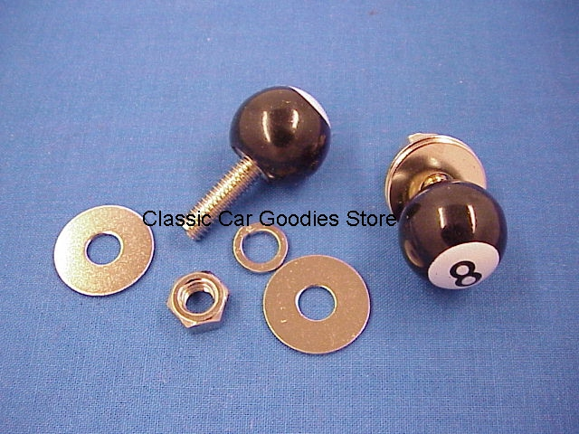 License Plate Bolts Fasteners 8 Ball