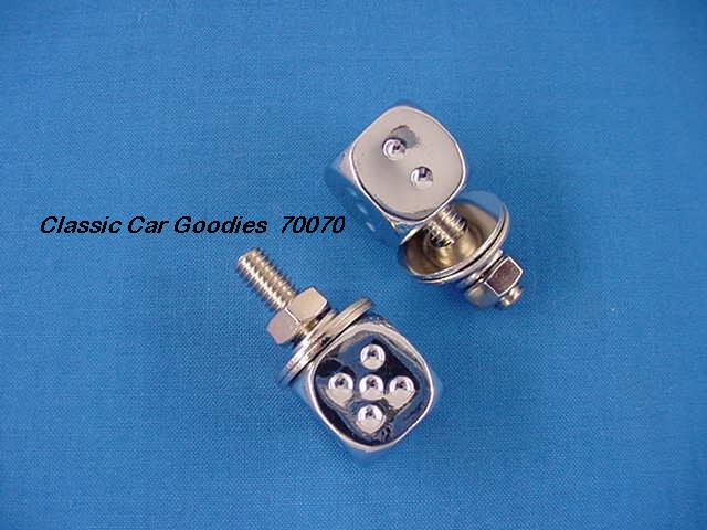 License Plate Bolts Fasteners Dice Chrome