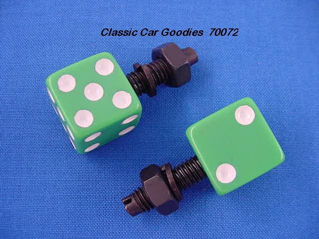 License Plate Bolts Fasteners Dice Green