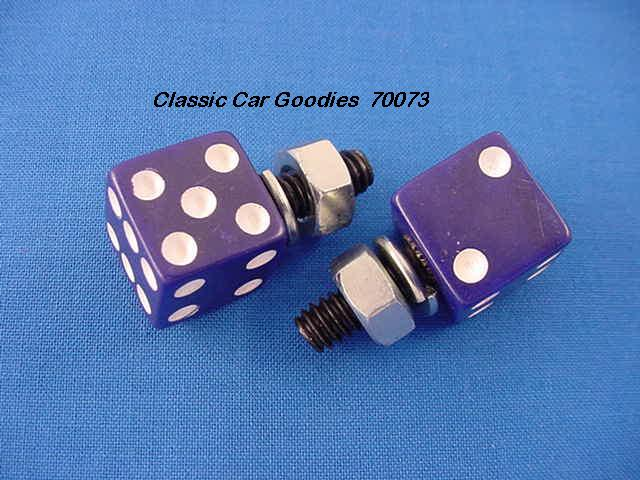 License Plate Bolts Fasteners Dice Purple