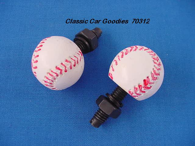 License Plate Bolts Fasteners Baseball