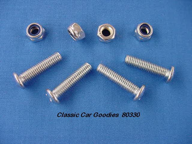 License Plate Bolts (4) Machine Thread New!