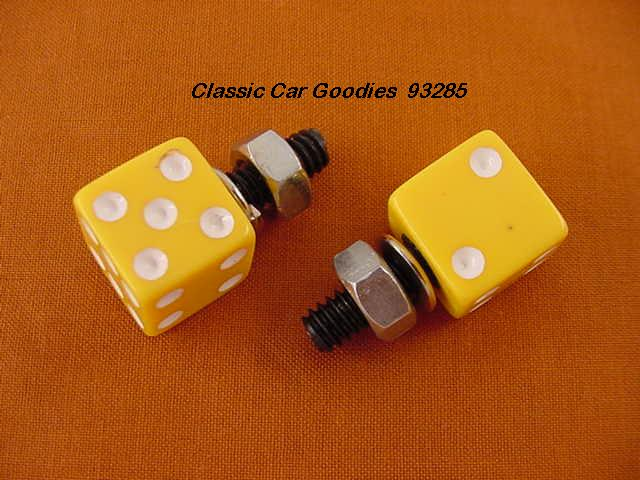License Plate Bolts Fasteners Dice Yellow