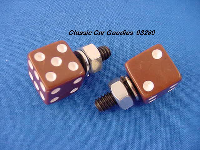 License Plate Bolts Fasteners Dice Brown