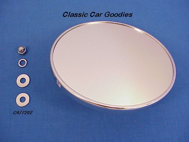 1947-1950 Chevy Truck Smooth Mirror Chrome 1948 1949