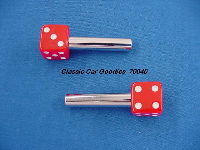 Door Lock Knobs Red Dice (2) New!