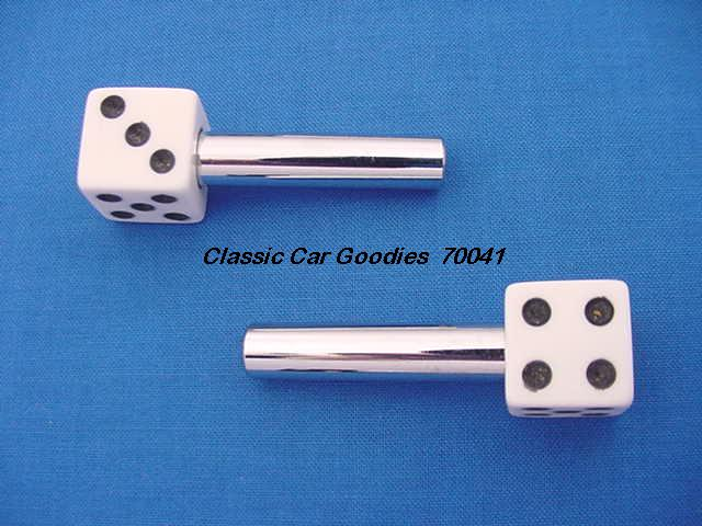 Door Lock Knobs White Dice (2) New!