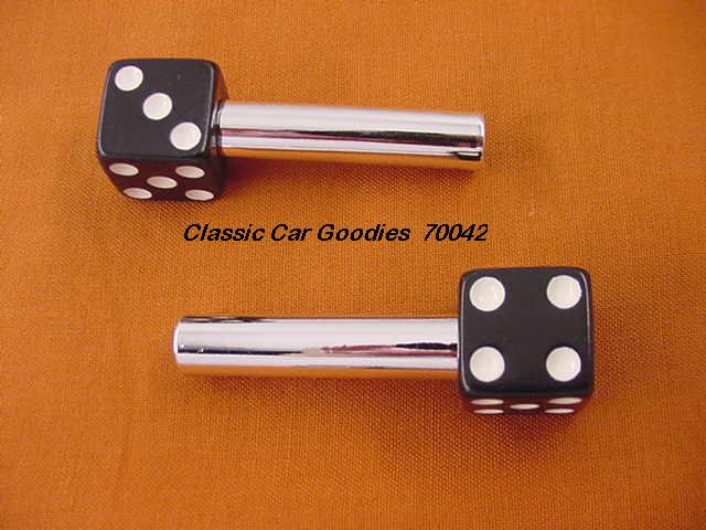 Door Lock Knobs Black Dice (2) New!