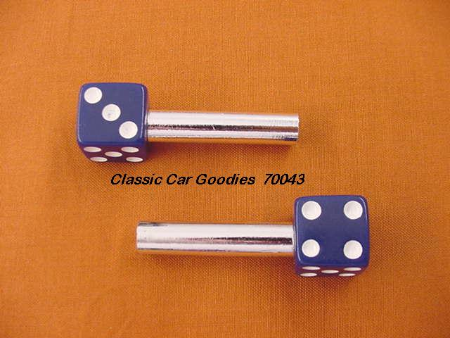 Door Lock Knobs Blue Dice (2) New!