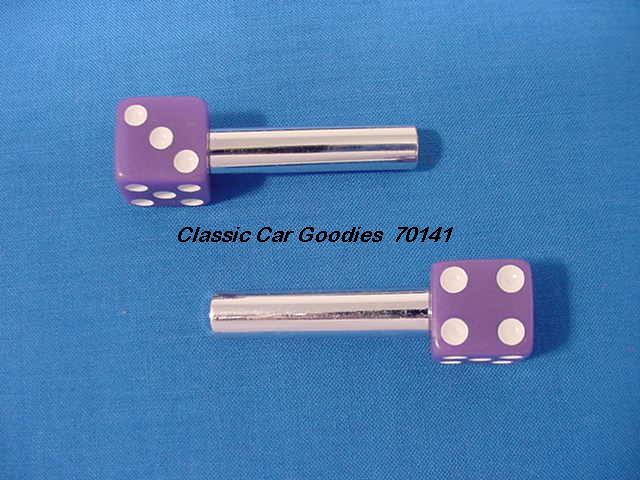Door Lock Knobs Purple Dice (2) New!