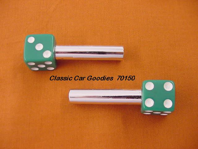 Door Lock Knobs Green Dice (2) New!