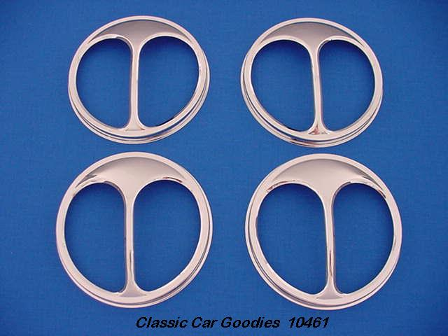Headlight Covers Cat's Eyes Chrome (4) Small 5 3/4