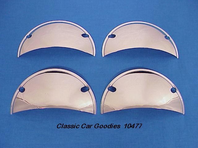 Headlight Shields Chrome Set of (4) for 5 3/4  Systems