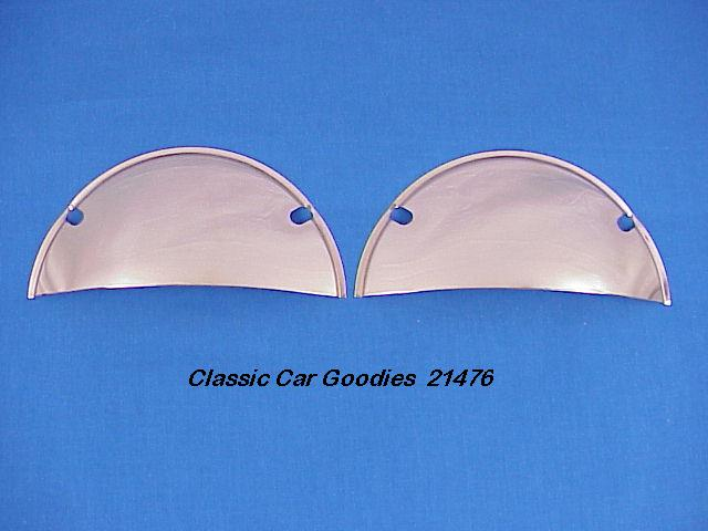 Headlight Shields (2) Stainless New for 7 1/4 Systems