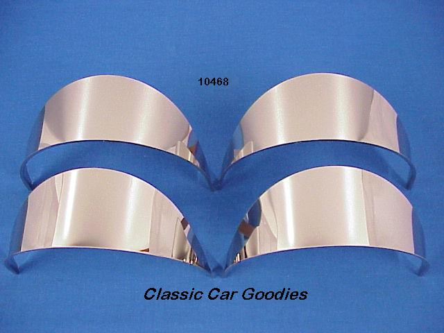 Headlight Visors (4) Economy SS for 5 3/4 4 Headlight Systems