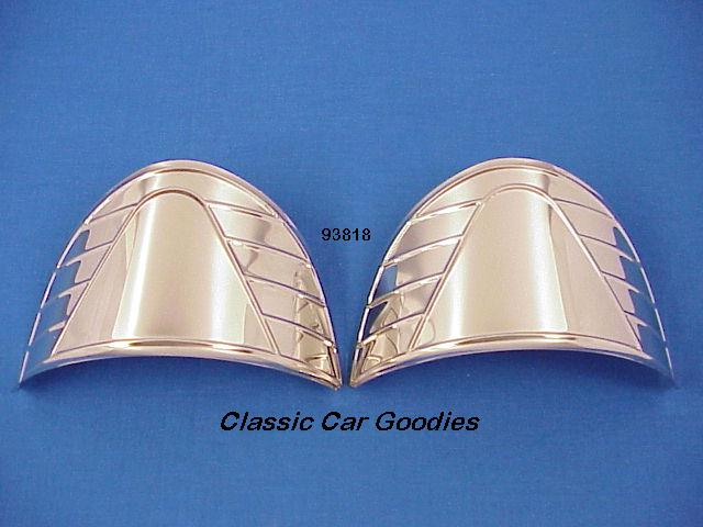 Headlight Visors Ribbed (2) SS for 7 1/4 Lights