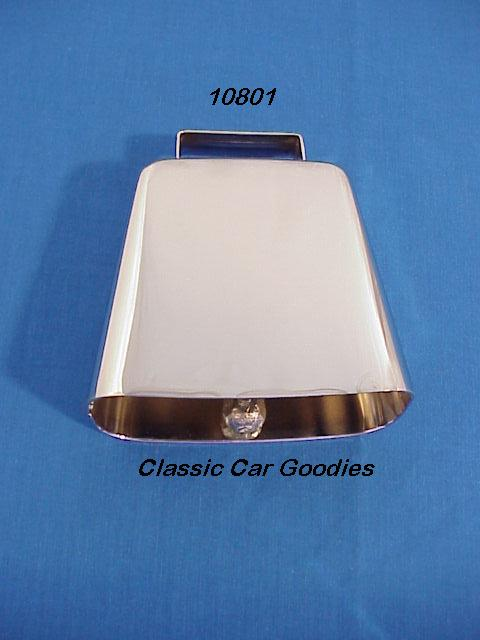 Cow Bell Chrome (1) 3 5/8 4X4 Truck Off Road Farm Ranch