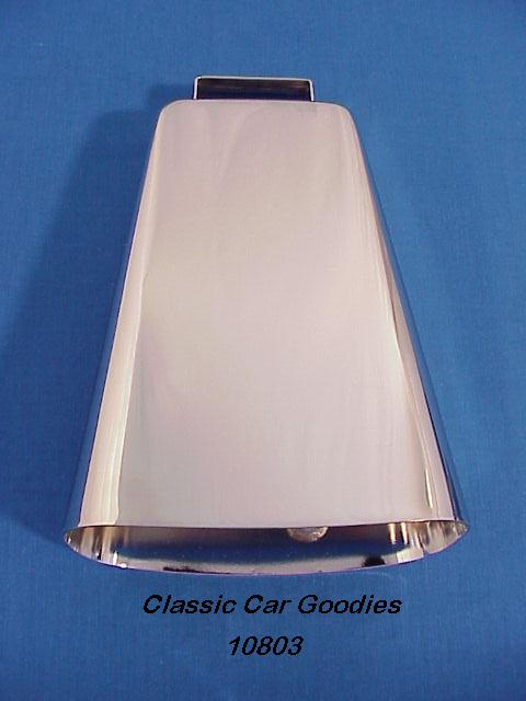 Cow Bell Chrome (1) 6 3/4 4X4 Truck Off Road Farm Ranch