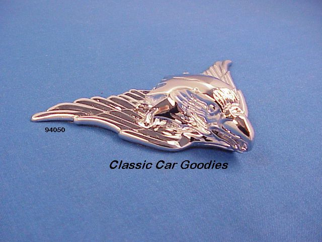 Chrome Flying Eagle (1) Chrome. Small. Peel n Stick. Flat