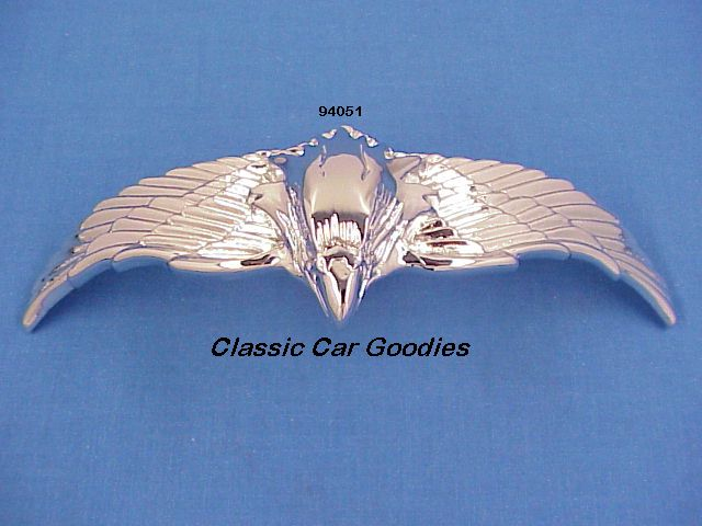 Chrome Flying Eagle (1) Chrome. Medium. Peel n Stick. Curved
