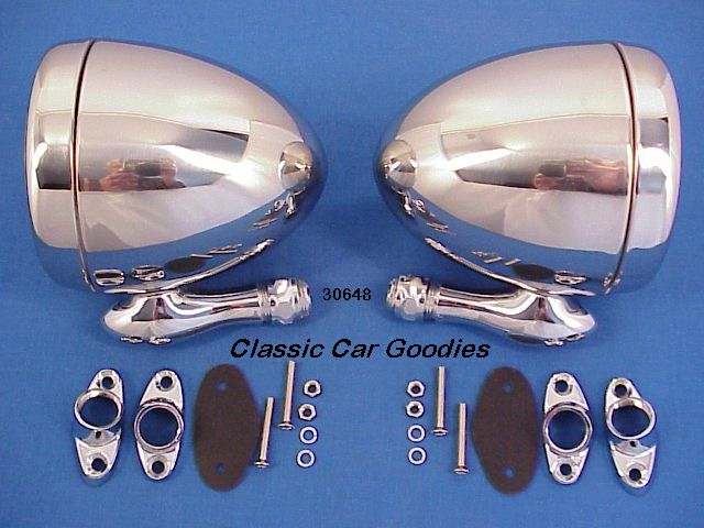 Dummy Spot Lights (2) Appleton Style Show Chrome Steel!