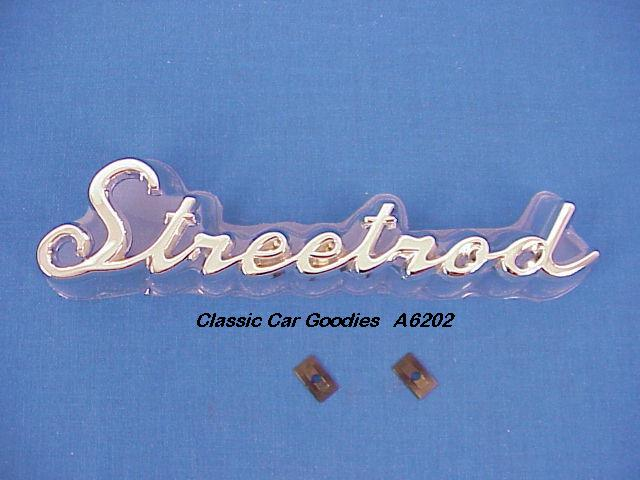 Street Rod Chrome Die Cast Emblem