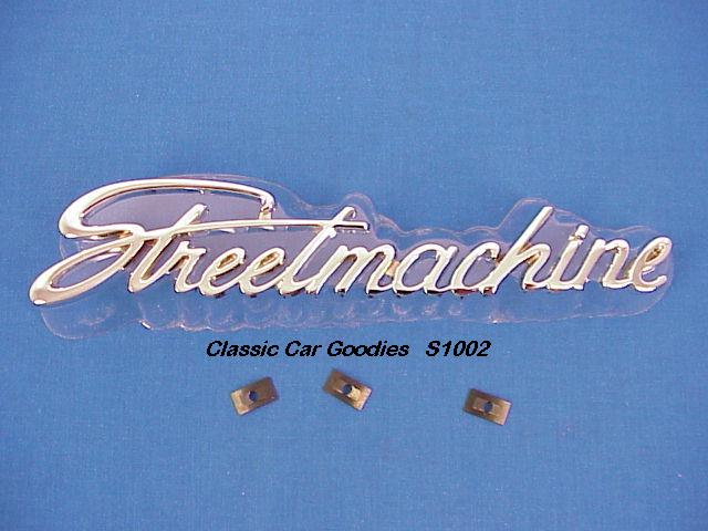 Street Machine Chrome Die Cast Emblem