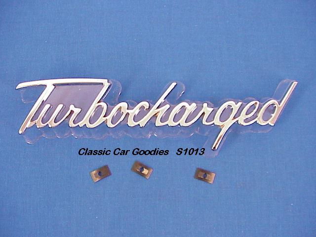 Turbocharged Chrome Die Cast Emblem