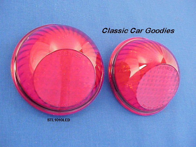 1937-1941 Willys Tail Light Inserts (2) 12 Volt LED 1938 1939 1940